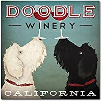 Trademark Fine Art Doodle Wine Artwork by Ryan Fowler, 24 by 24-Inch preiswert