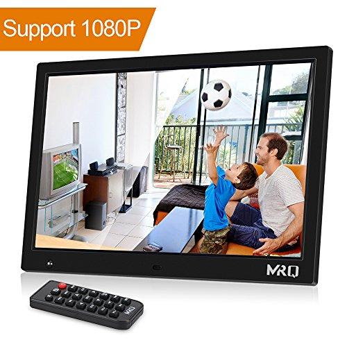 """MRQ 14.1"""" Digitaler Bilderrahmen, 1280x800 HD Bildschirm, unterstützt 1080P, Bewegungssensor Funktion, unterstützt USB SD und Multi-Format, Video Musik Foto E-Book Wiedergabe, Uhr Kalender Alarm."""