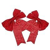 Generic Weihnachtsbaum Schleifen Christbaum Bowknot Geschenkschleife Advent Basteln - Rot