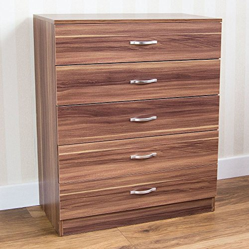Price comparison product image Generic O-1-O-6476-O iture Bedroom Furniture room Fu Handles Runners Runners Chest Drawers Walnut tal Han nut 5Dr 5Drawer Metal NV_1001006476-NHUK17