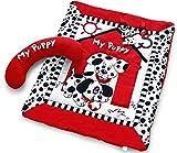 Black, White & Red Prop-up Puppy Tummy T...