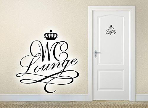 Grandora W881 Türaufkleber WC Lounge + Krone