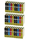 Azprint 30er Set Kompatibel Epson T16XL T16 xl T1631 T1632 T1633 T1634 Druckerpatronen | 12 Schwarz, 6 Blau, 6 Rot, 6 Gelb