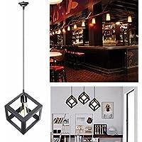 KINGSO Nero E27 Lamp Shade sospensione del soffitto Lampadario con Socket riparo della parete di illuminazione industriale Retro