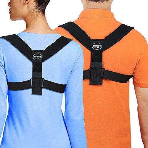 Corrector de Postura de Espalda para Hombres y Mujeres – La Mejor Abrazadera con Soporte para la Clavícula – Alineación de Hombros – Alivia el Dolor de Espalda – Corrige la Mala Postura