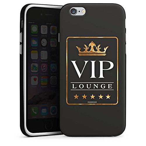 Apple iPhone X Silikon Hülle Case Schutzhülle VIP Lounge V.I.P Luxus Silikon Case schwarz / weiß