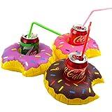 MS Donuts 3 Pack Fiesta en la piscina inflable Flota de la bebida CJ512