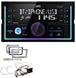 JVC KW-X830BT Aux 2DIN USB MP3 Bluetooth Autoradio für Opel Antara Astra H Zafira B Charcoal