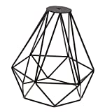 Baoblaze Abat-jour Suspendu Forme en Diamant Décor Art pour Chambre Salon - Noir