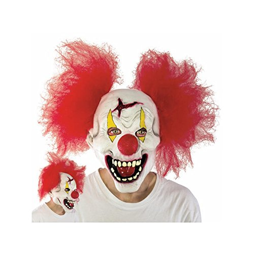atex Funny Clown Maske mit Haar für Erwachsene, Halloween-Kostüm Party Masken clown-mask ()