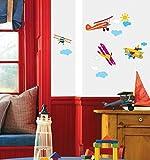 Ambiance-Live Wandtattoo Flugzeuge für die Kammer der Kinder