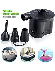Jinxuny - Pompa elettrica Universale per Materasso ad Aria Portatile, a Ricarica Rapida, alimentata a Batteria, gonfiatore e sgonfiatore per Letto Gonfiabile