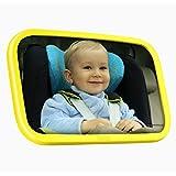 Bébé Omorc moniteur Miroir pour banquette arrière miroir Jaune Disposent d'une Rotation à 360° de voiture Miroir de sécurité bébé