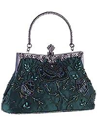 91409ed6b5f6d LLUFFY-Clutch Handtasche Vintage seide bestickt abend abendessen tasche  eisen griff cheongsam brautbeutel mode perlen…