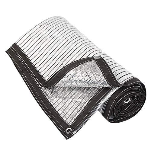 Aluminet Shade Paneele Sun Block Reflective Shade Paneel Block 90% der UV-Strahlen Band Mit Free Cilps UV-beständigen Schwarz für Gartenpflanzen Barn Kennel Autodachabdeckung, Mehrere Größen