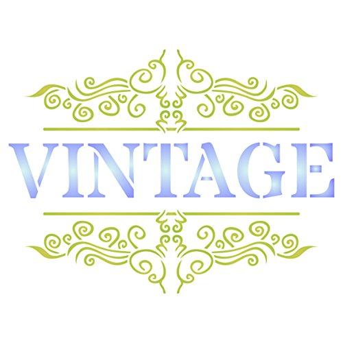 Vintage Schablone-wiederverwendbar French Mottoparty Wort Wand Schablone-Vorlage, auf Papier Projekte Scrapbook Tagebuch Wände Böden Stoff Möbel Glas Holz etc. m -