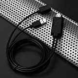 KNOSSOS USB Female to HDMI Male HDTV Adapter Cable for iPhone 7/7plus/6s 6 Plus AC1068 - Black