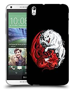 Snoogg Wolf Vs Dragon Designer Protective Back Case Cover For HTC 816