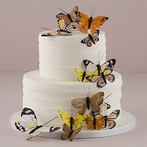 Tortendekoration | 24 Schmetterlinge, braun