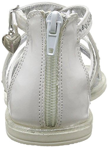 ASSO 40716, Sandales Fille Blanc (White)