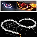 #6: 2x16 LED AutoTrends Car Strip Crystal Audi Style DRL Daytime Running Light Turn Signal Moving Indicators