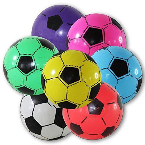 katzeninfo24.de 4 x Kunststoffball Fussball Ball 20 cm