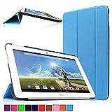 Infiland Acer Iconia Tab 10 A3-A20 Tablet Funda, Ultra Delgada Tri-Fold PU Cuero Smart Cascara para Acer Iconia Tab 10 A3-A20 25,65 cm (10,1 Pulgadas FHD) (A3-A20HD) Tablet-PC (Azul Claro)