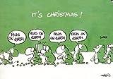 Witzige Weihnachtskarte Fröhliche Papageien