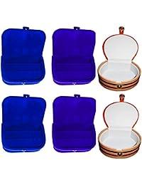 Afrose Combo 2 Pc Blue Earring Box 2 Pc Blue Ear Ring Folder 2 Pc Bangle Box Jewelry Vanity Case