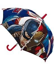 Marvel- Paraguas infantil, 45cm, Civil War, , Capitán América y Iron Man