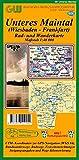 606 Unteres Maintal (Wiesbaden - Frankfurt): Rad- und Wanderkarte - 1:40000 mit Rettungpunkten -