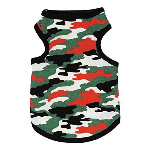 Für Kostüm Chihuahua Hot Dog - Hmeng Hot Dog Weste Pet Camouflage Kleidung Kleidung Weste Kostüme Sommer (M, Tarnung)