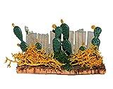 Zaun mit Feigen Kaktus - Miniatur Maßstab 1:12 - für Puppenstube / Puppenhaus / Krippe u. Eisenbahn Platte - Garten Bäume / Bäume - Kakteen Feigenkaktus am Gartenzaun - Mexiko / Lateinamerika - Südamerika