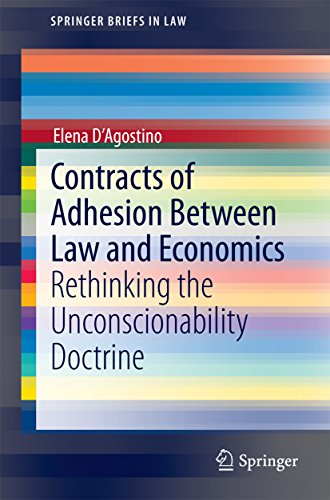 Contracts of Adhesion Between Law and Economics: Rethinking the Unconscionability Doctrine (SpringerBriefs in Law)