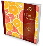 """GOCKLER® Leeres Kochbuch: Ein Rezeptbuch zum Selbstgestalten / Selberschreiben • Für 100 Lieblingsrezepte, mit Register uvm. • DesignArt """"Grapefruits"""" • Softcover, ca. 21 x 21 cm"""