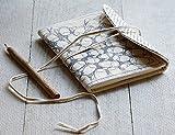 San Valentino regalo, regalo scrittura Diario Ufficiale Fatti a mano con tessuto risvolto di copertina Classicoa e Una chiusura del thread per Gli uomini donne