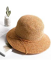 WY-scarf Paglia Cappello Estivo Pescatore Hand-Woven Parasole Sun Sun Hat  Tappo per lavabo 01e8cb34638d