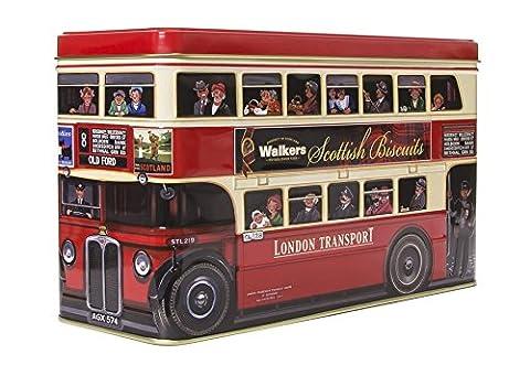 Walkers Shortbread London Bus Biscuit Selection Tin, Biscuits aux Fruits et Chocolat, Biscuits au Beurre Ecossais, Petits Gâteaux, Boite Cadeau, Rouge, 450 g, 5483