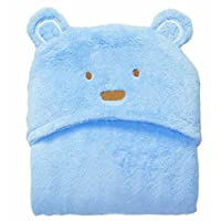 Newborn Baby Cute Cartoon Animal Style Swaddle Receiving Blanket Bath Towel Size 0-6Months (Blue)