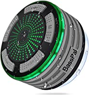 BassPal Shower Speaker, IPX7 Waterproof Portable Wireless Bluetooth 4.0 Speakers with Super Bass and HD Sound,