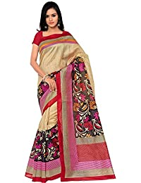Looks21 Bhagalpuri Silk Saree (Ayesha_Brown_Black_Brown)