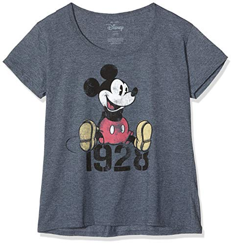 Disney Mickey Year T-Shirt, Gris (Dark Heather Dkh), 44(Taille du Fabricant: X-Large) Femme