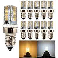 HiBay lampadine a LED E14 3 W, bianco freddo 6000 K, 6500 Undimmable, Lampadario Lampada, equivalente a una lampadina a incandescenza da 25W, lampadine con luce LED in silicone a 360°, confezione da 10 pezzi