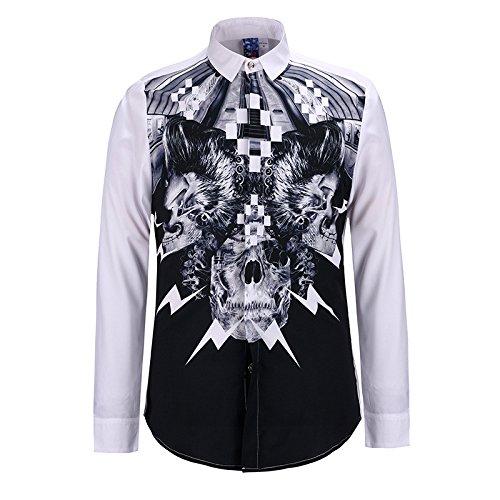MAYUAN520 Chemises Chemise homme Mode Nouvelle Méduse shirt Impression 3D Boy Top Tee Shirt DC Comics Loisirs camisa masculine chemise homm Shirts,bleu,L