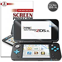 Protector de Pantalla para Nintendo New 2DS XL [3 Paquetes]- Younik Protector de pantalla HD de 0.125mm/4H ultra transparente para New Nintendo 2DS XL 2017