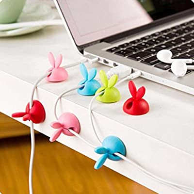 IGEMY New 6 x Cable Clip Desk Tidy Wire Drop Lead USB Charger Cord Holder Secure Table - cheap UK light store.