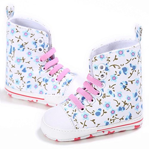Tefamore Toddler Crib Chaussures Slip On Chaussures Confort Toile Chaussures Blanc