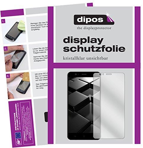 dipos I 2X Schutzfolie klar passend für Elephone P8 Mini Folie Bildschirmschutzfolie