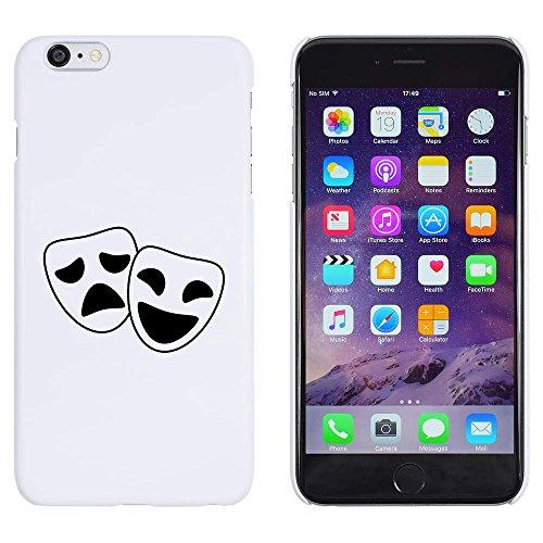 Weiß 'Komödie & Tragödie Masken' Hülle für iPhone -