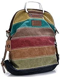 Kiss Gold(Tm) Women'S Canvas Multi-Color Shopper Tote Shoulder Bag (Multi-Color-Model C)